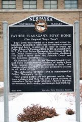 Plaque outside of Boys Town