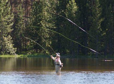 Couple Fly Fishing