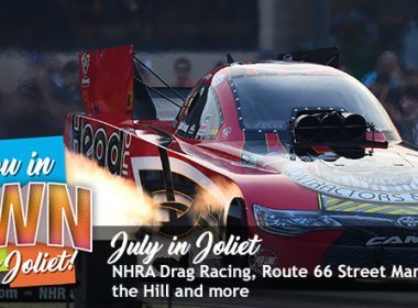 July in Joliet Drag Racing Logo