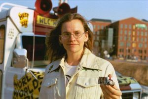 Woman in Front of Ice Cream Truck