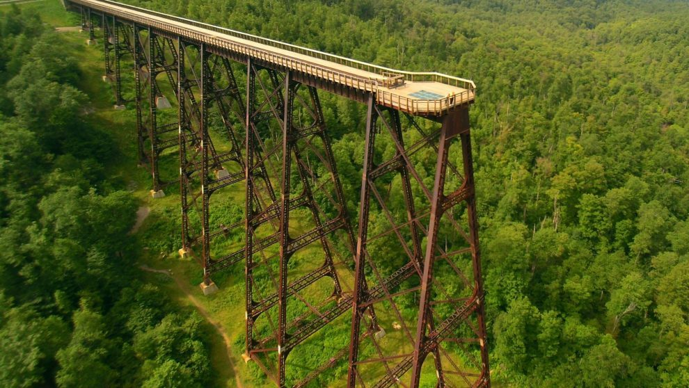 2017 Kinzua Sky Walk Summer Aerial Close
