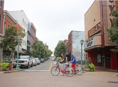 Couple Riding Bicycles In Clarksville