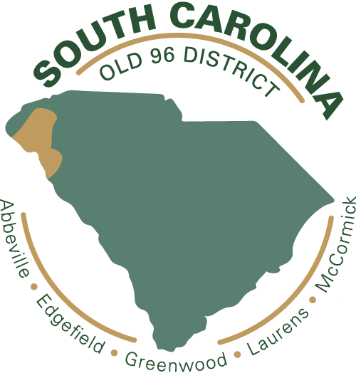 Old 96 District in South Carolina - Abbeville Edgefield Greenwood Laurens McCormick tourism