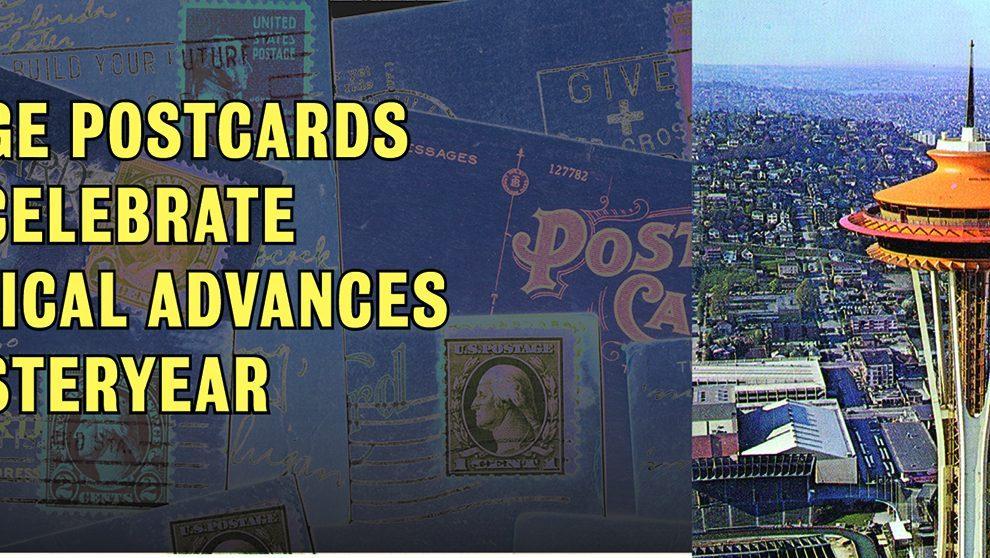 Vintage Postcards & Seattle Space Needle American Road Magazine
