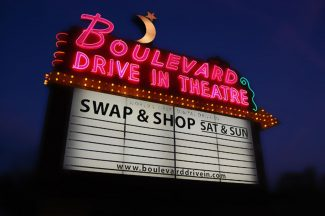 Boulevard Drive-In Theatre Sign