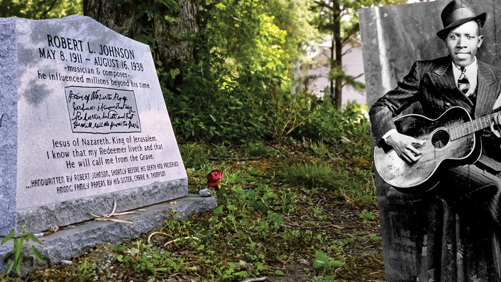 Picture of Robert L. Johnson & His Gravestone