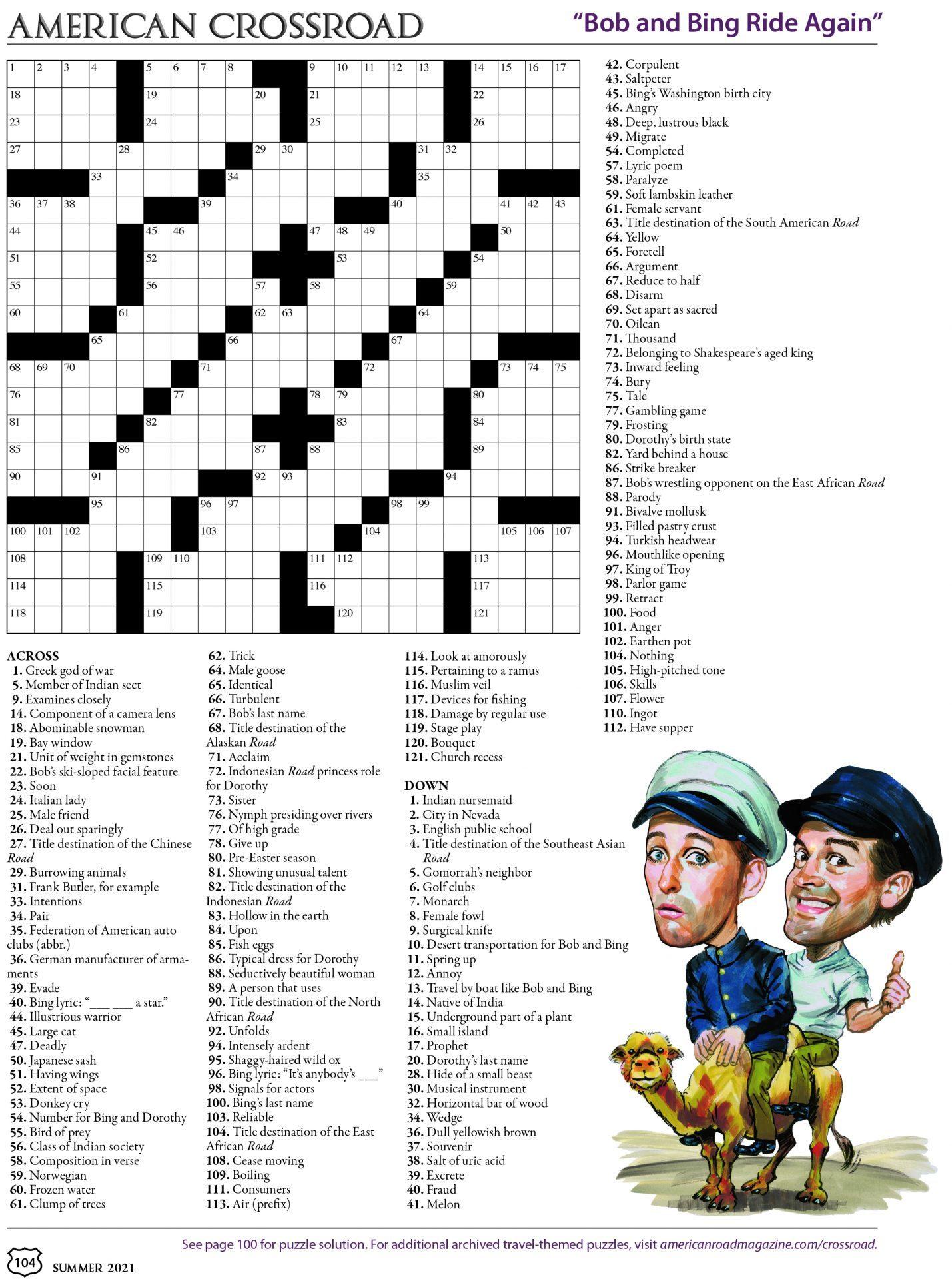 Summer 2021 Crossword